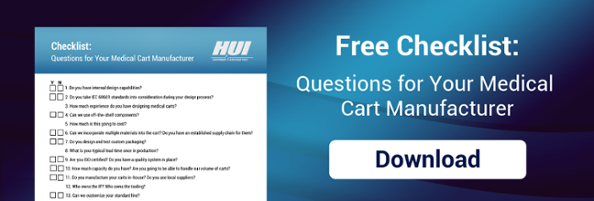 Checklist - Questions for Your Medical Cart Manufacturer