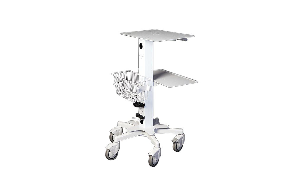 VersaStar Standard Medical Cart with Basket and Two Shelves